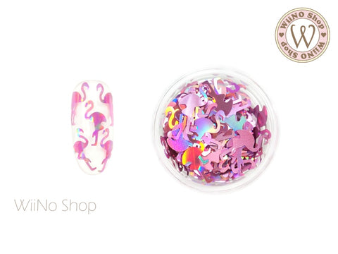 Magenta Pink Holographic Flamingo Glitter