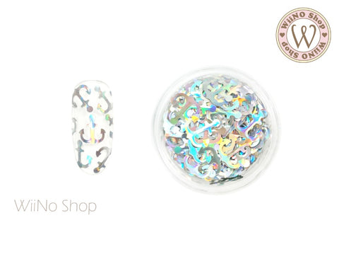 Silver Holographic Anchor Glitter