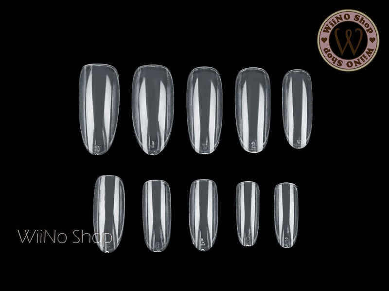 Clear Oval Shape Full Cover False Nail Art Tips