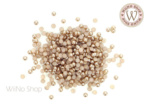 Brown Half Round Pearl (1.5/2/3mm)