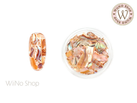 Peach Natural Abalone Crushed Shell Chips Nail Art Decoration