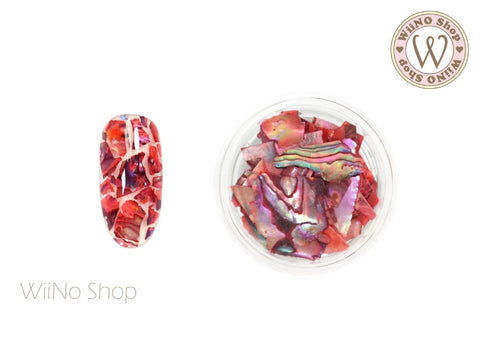 Red Natural Abalone Crushed Shell Chips Nail Art Decoration