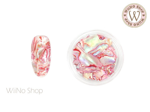Pink Natural Abalone Crushed Shell Chips Nail Art Decoration