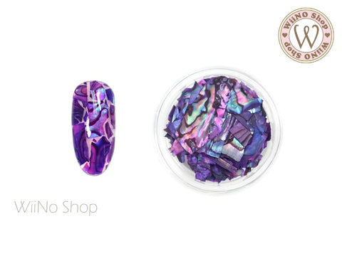 Purple Natural Abalone Crushed Shell Chips Nail Art Decoration