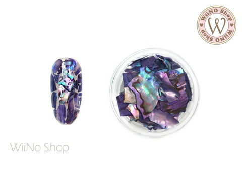 Dark Violet Natural Abalone Crushed Shell Chips Nail Art Decoration