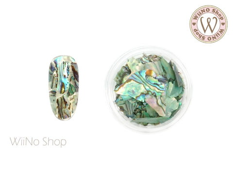 Mint Natural Abalone Crushed Shell Chips Nail Art Decoration
