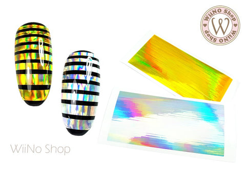 Holographic Line Adhesive Nail Art Sticker - 1 pc