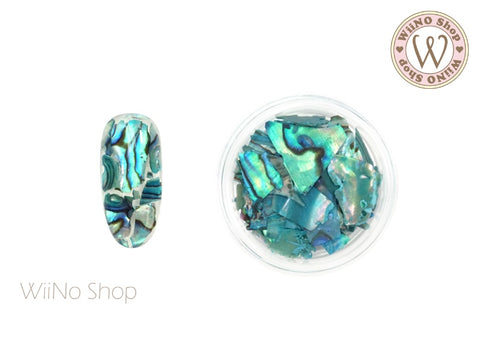 Light Turquoise Natural Abalone Crushed Shell Chips Nail Art Decoration