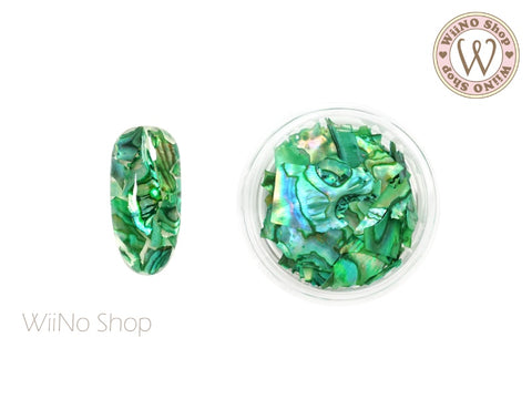 Green Natural Abalone Crushed Shell Chips Nail Art Decoration