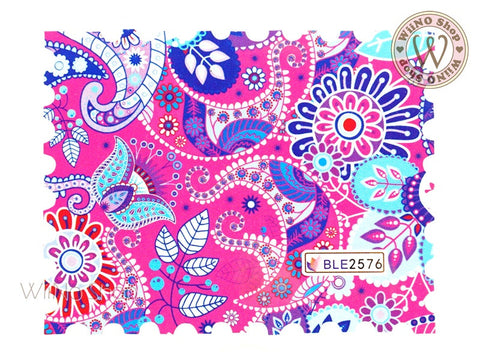 Paisley Pattern Water Slide Nail Art Decals - 1pc (BLE2576)