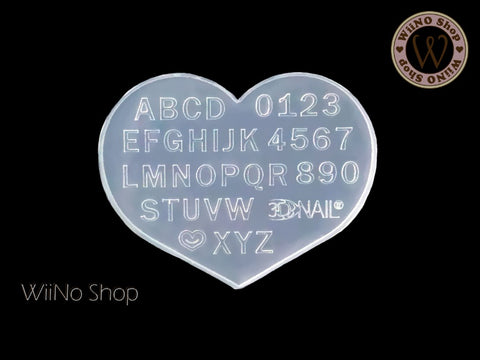 Uppercase Letters 3D Nail Art Mold - 1 pc