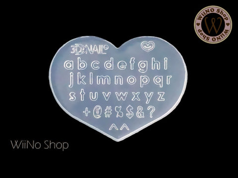 Lowercase Letters 3D Nail Art Mold - 1 pc