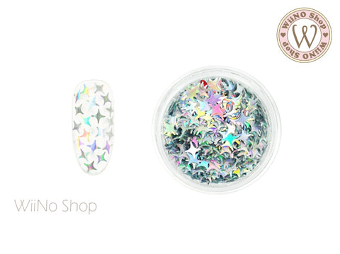 Silver Holographic Cross Star Glitter (CSH02)