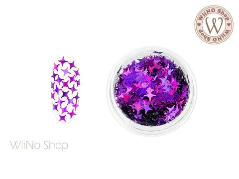 Purple Holographic Cross Star Glitter (CSH05)