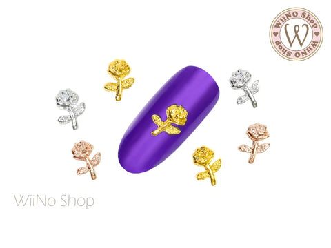 Rose Nail Metal Charm - 2 pcs (RS04)