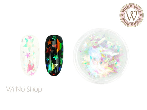 Rainbow Clear Star Mix Sizes Glitter (FM01)