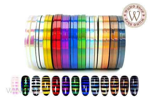 Holographic Rainbow Nail Art Striping Tapes Line