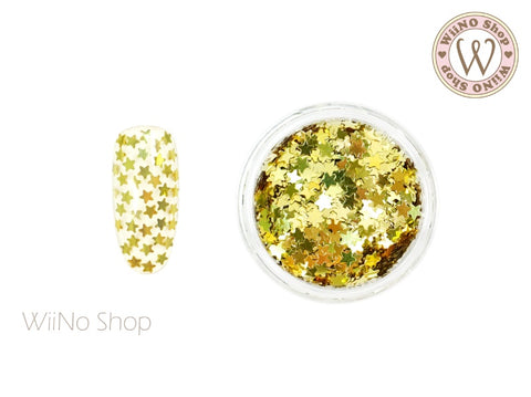 2.5mm Gold Star Nail Art Glitter