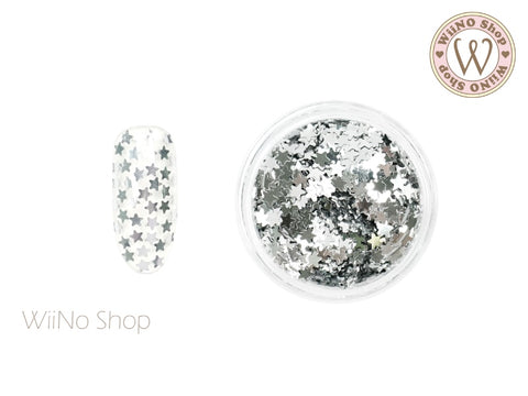 2.5mm Silver Star Nail Art Glitter