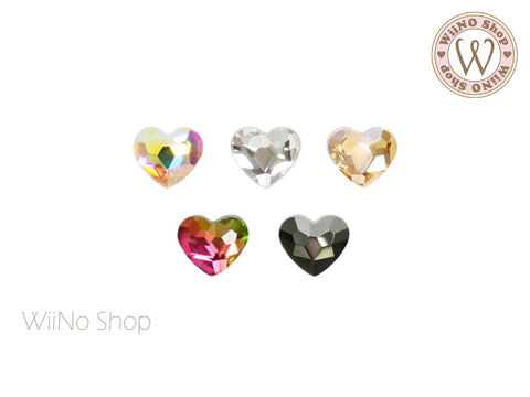 3 x 4mm Small Heart Flatback Crystal - 10 pcs