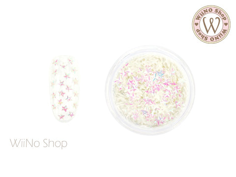 3mm 3D Pink Dream White Star Glitter (KST02)