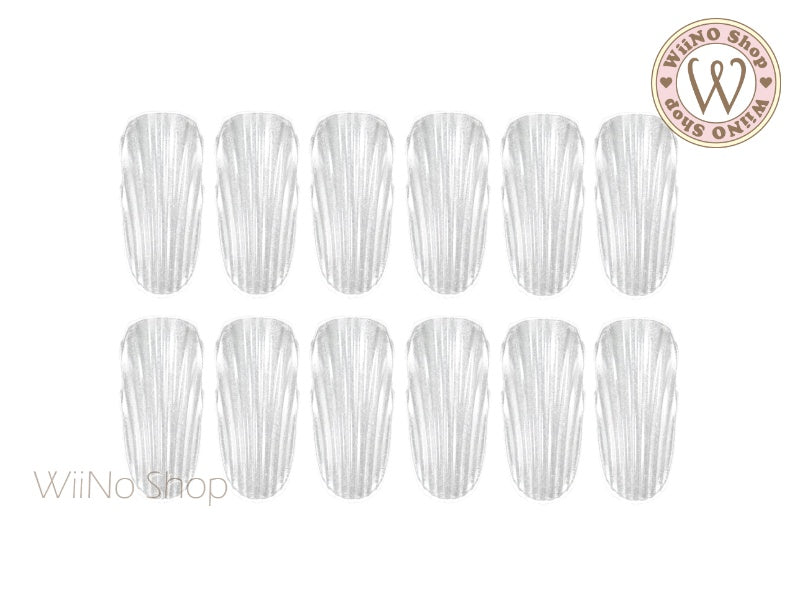 Clear 3D Shell Color Display Nail Tips - 24 pcs