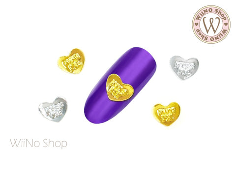 Sweet Heart Candy Nail Metal Charm - 2 pcs