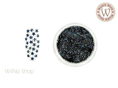 3mm 3D Black Holographic Star Glitter (KST04)