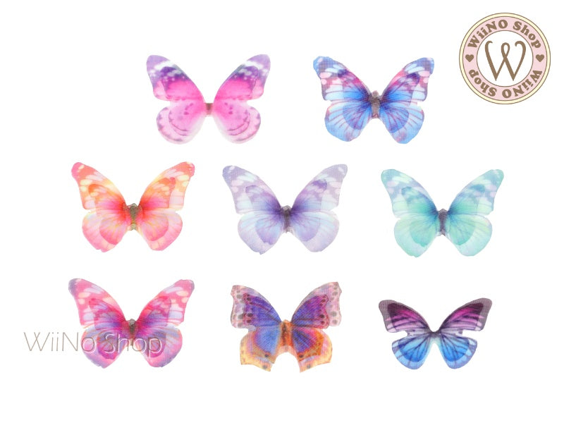 Double Layer Mesh Butterfly Nail Art Decoration