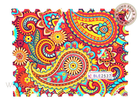 Paisley Pattern Water Slide Nail Art Decals - 1pc (BLE2537)