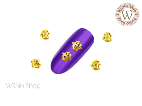 Gold Boo Ghost Nail Metal Charm - 2 pcs