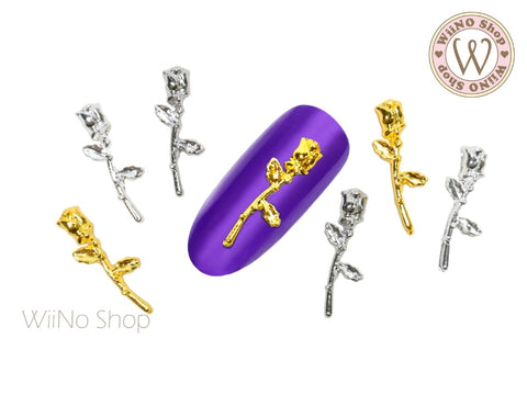 Rose Nail Metal Charm - 2 pcs (RS05)