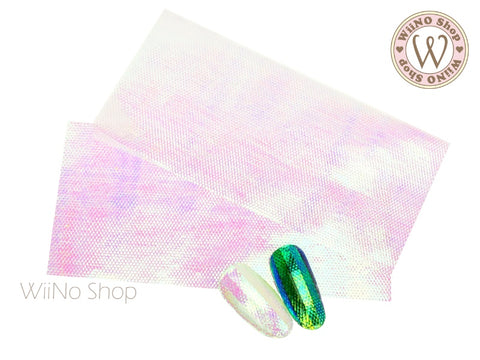 Textured Rainbow Film Nail Art Decoration - 2 pcs
