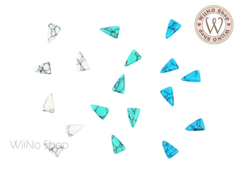 7 x 4mm Long Triangle Turquoise Gemstone Cabochon - 10 pcs