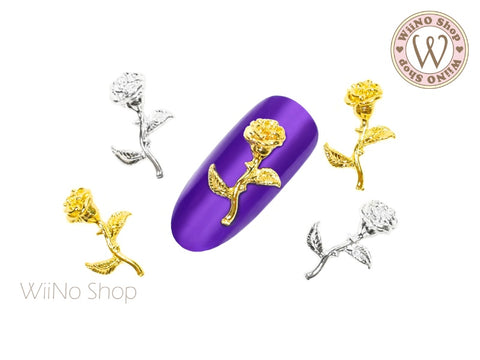3D Rose Nail Metal Charm - 2 pcs (RS06)