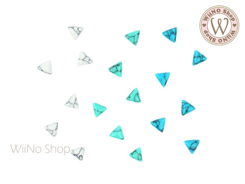 5mm Triangle Turquoise Gemstone Cabochon - 10 pcs