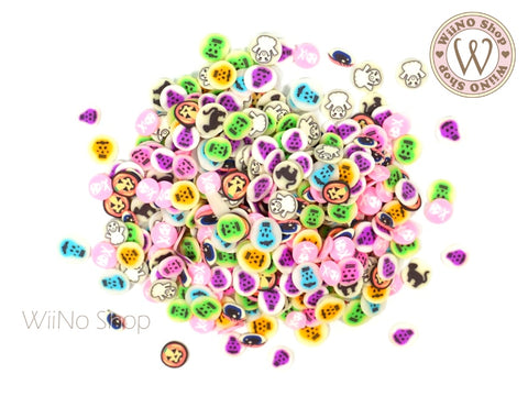 Halloween Mixed Polymer Fimo Slices Nail Art Decoration