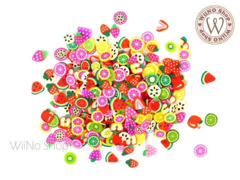 Fruit Mixed Polymer Fimo Slices Nail Art Decoration