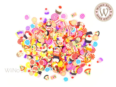 Sweet Dessert Mixed Polymer Fimo Slices Nail Art Decoration