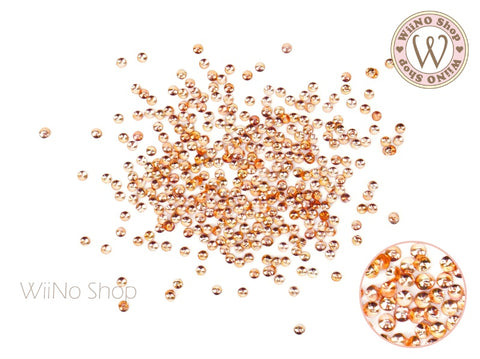 Rose Gold Mini Round Metal Studs (0.8/1/1.2/1.5mm)