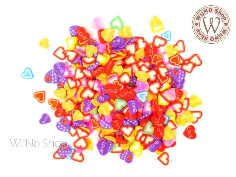 Heart Mixed Polymer Fimo Slices Nail Art Decoration
