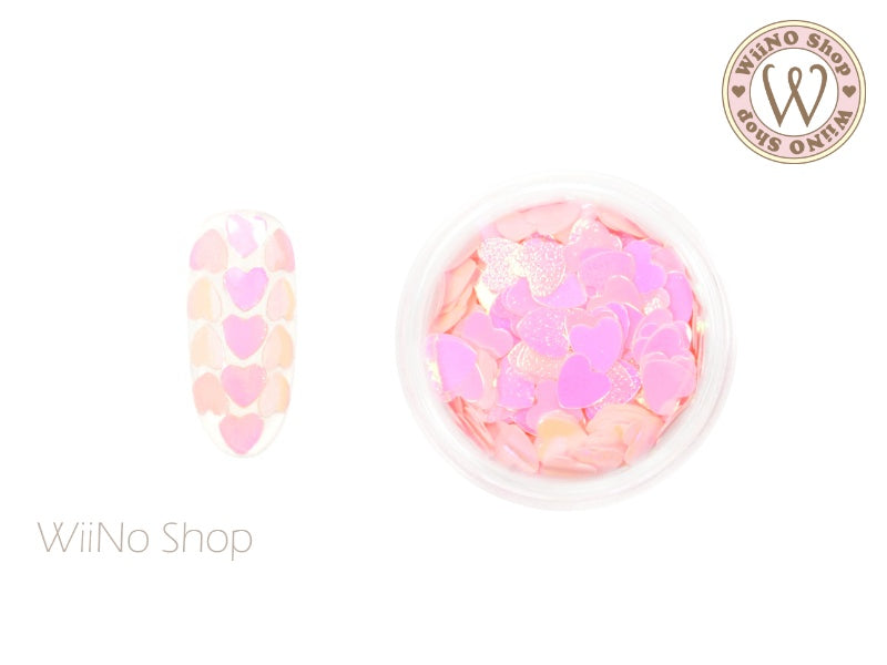 4mm Pink Candy Heart Glitter