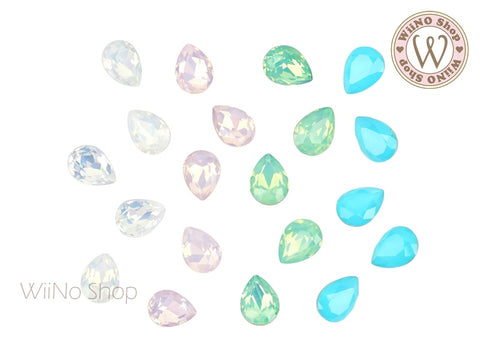 6 x 8mm Opal Drop Point Back Crystal - 5 pcs