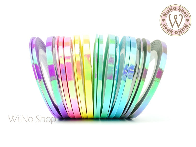 Candy Holographic Rainbow Nail Art Striping Tapes Line Wiino Shop