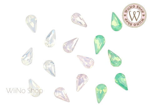 5 x 8mm Opal Drop Point Back Crystal - 5 pcs