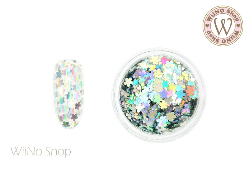 Silver Holographic Flower Glitter (FL02)