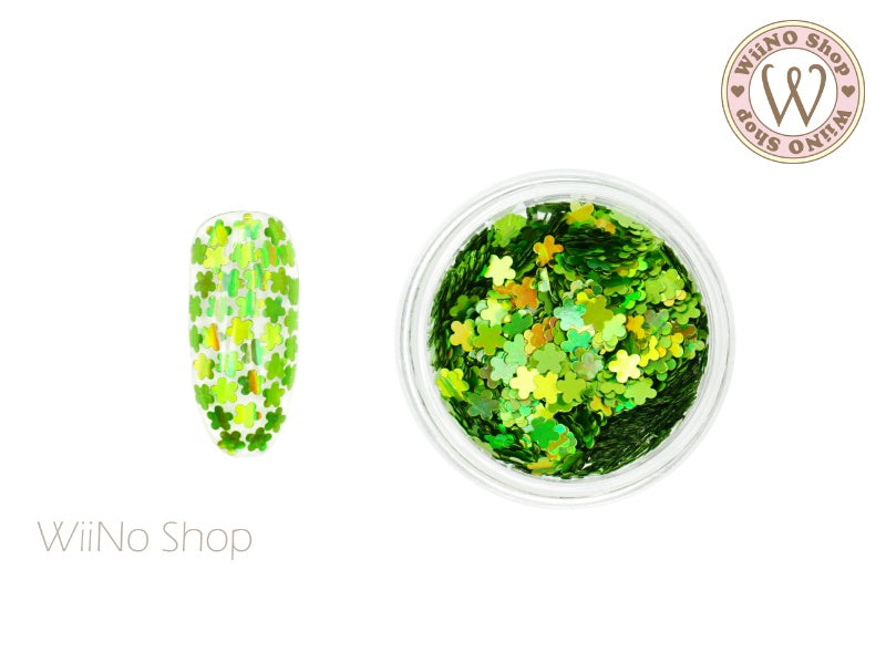 Green Holographic Flower Glitter (FL05)
