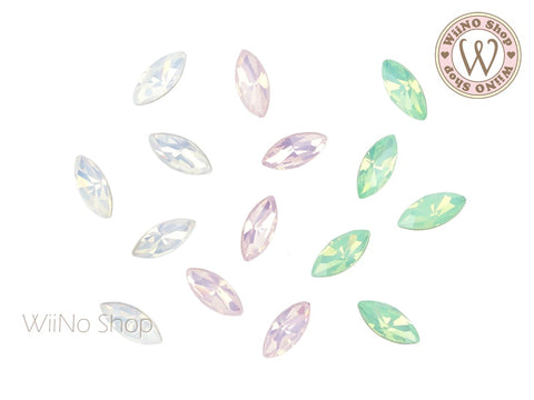 4 x 8mm Opal Marquise Point Back Crystal - 5 pcs
