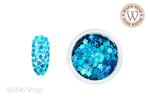 Blue Holographic Flower Glitter (FL06)
