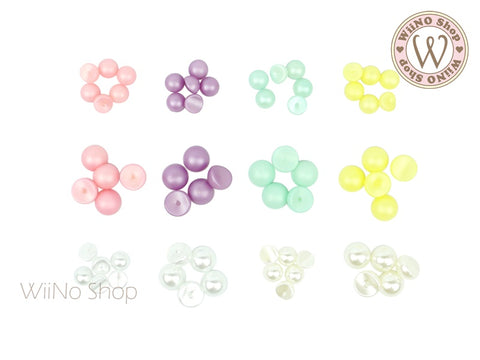 Pastel Candy Pearl Curved Back- 10 pcs